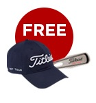 Titleist NXT Tour cap and divot tool offer