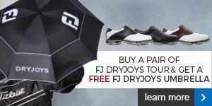 FREE FootJoy umbrella with a pair of DryJoys Tour