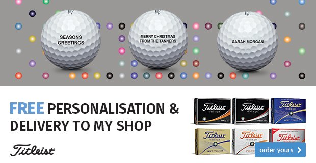 Titleist free ball personalisation - from £19.99
